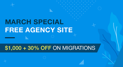 Free agency site with $1,000+30% off on migrations